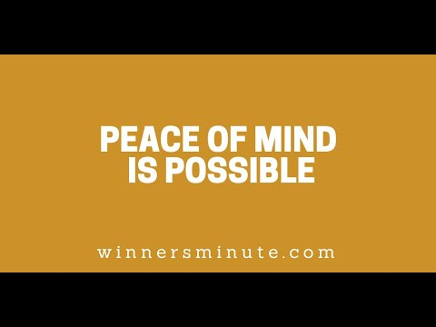 Peace of Mind Is Possible // The Winner's Minute With Mac Hammond