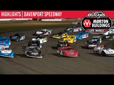 World of Outlaws Morton Building Late Models at Davenport Speedway August 26, 2021 | HIGHLIGHTS - dirt track racing video image