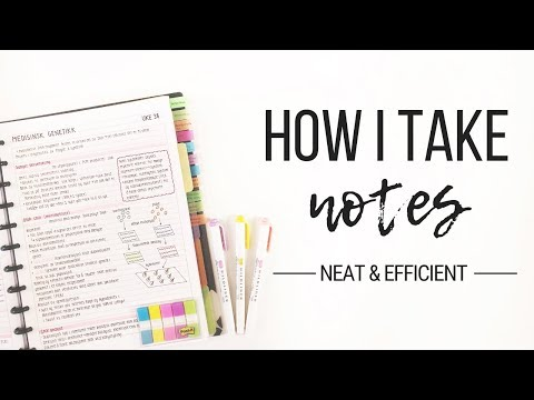 How I take notes - Tips for neat and efficient note taking | Studytee - UCc1QflC90Nkf_SDBZwJScDQ