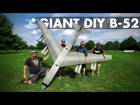✈️ Flying a 14 foot B-52 Bomber Made out of FOAM! ✈️ - UC9zTuyWffK9ckEz1216noAw
