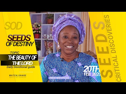 Dr Becky Paul-Enenche - SEEDS OF DESTINY - THURSDAY 20TH FEBRUARY, 2020