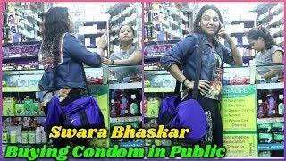 Swara Bhaskar Buying Things in Public From Medical Shop