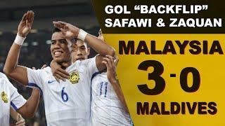 *GOL  BACKFLIP SAFWI* MALAYSIA 3-0 Maldives - Full Highlight International Friendly 2018
