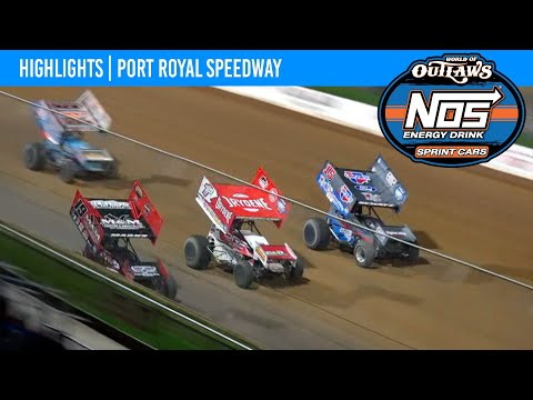 World of Outlaws NOS Energy Drink Sprint Cars Port Royal Speedway, October 9, 2021 | HIGHLIGHTS - dirt track racing video image