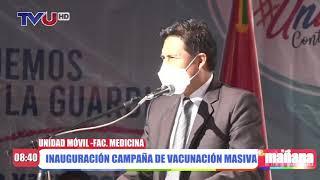 INAUGURACIÓN CAMPAÑA DE VACUNACIÓN MASIVA.