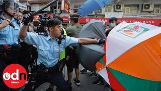 Hong Kong Crisis Escalates as Police Pepper Spray Protesters