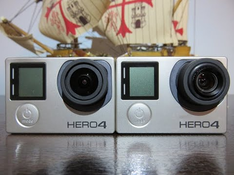 GoPro Hero4 Black, MP-10 5,4mm vs stock 2,8mm lens