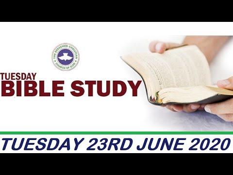 RCCG JUNE 23RD 2020 BIBLE STUDY