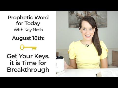 Prophetic Word: Keys bring breakthrough