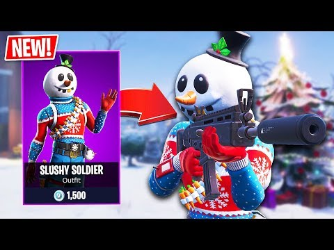 New SLUSHY SOLDIER Snowman Skin!! // Pro Fortnite Player // 1700 Wins // Fortnite Live Gameplay - default
