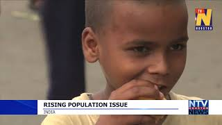 Rising population issue in India