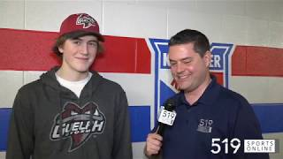 OHL Draft - Braeden Bowman picked in 5th round by Guelph Storm