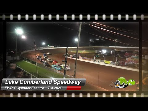 Lake Cumberland Speedway - FWD 4 Cylinder feature - 7/4/2021 - dirt track racing video image