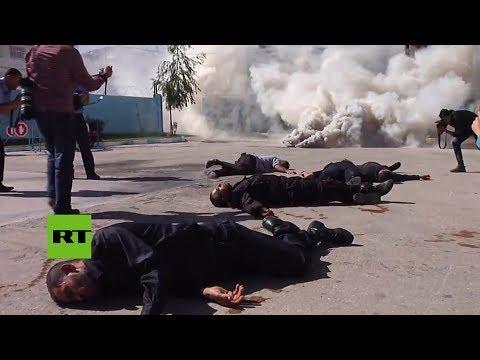 Gaza realiza simulacros de respuestas a emergencias