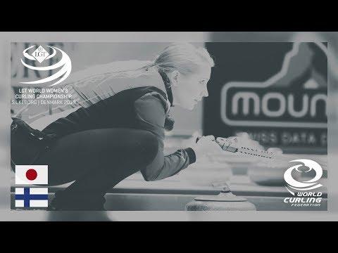 Japan v Finland - round robin - LGT World Women's Curling Championships 2019
