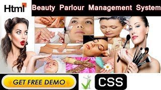 Online Beauty Parlour Management System Project in HTML | CSS | JAVASCRIPT - College Projects