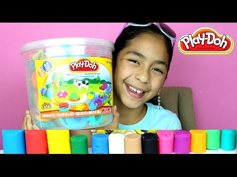 Tuesday Play Doh Huge Play Doh Bucket Adventure Zoo|B2cutecupcakes - UCXa9irCtpM1t4l2cPuBKcQg