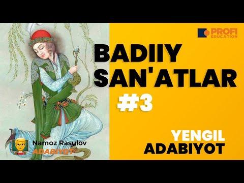 ADABIYOT. BADIIY SAN`ATLAR - 3.