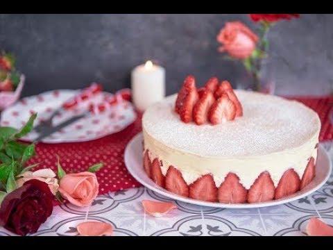 [EN] Fraisier Cake / كيكة الفراولة - CookingWithAlia - Episode 705 - UCB8yzUOYzM30kGjwc97_Fvw