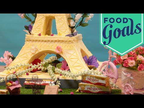 The Eiffel Tower Sculpted Out of 50 Pounds of Butter | Food Network