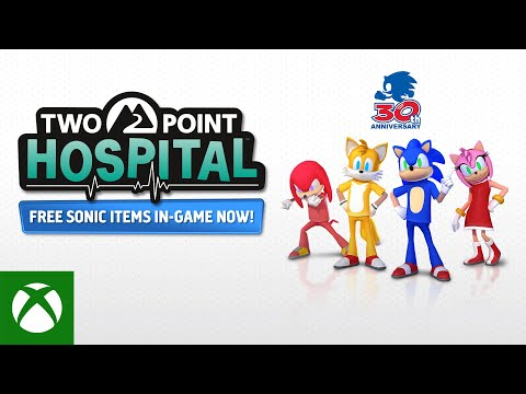 Sonic joins Two Point Hospital - Free DLC out now!