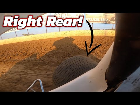 Tanner Holmes 410 Sprint Car Qualifying at Lake Ozark Speedway! - dirt track racing video image