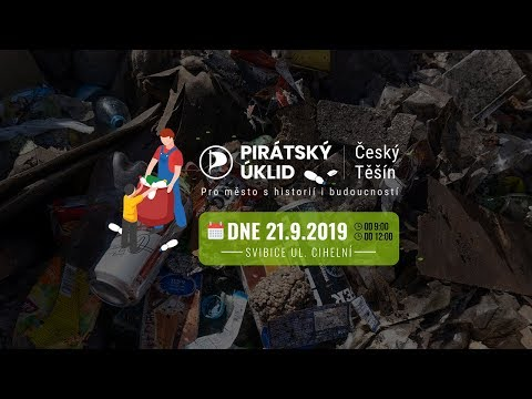 Pirátský úklid Českého Těšína Svibice ul.  Cihelní v rámci akce ukliďme Česko 2019