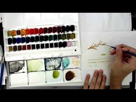 Paint a Simple Watercolor Autumn Branch