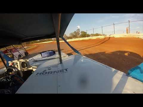 Red Dirt Raceway Sport Mod/B-Mod Heat Race #1 10/23/2021 Kyle Wiens #18 GoPro - dirt track racing video image