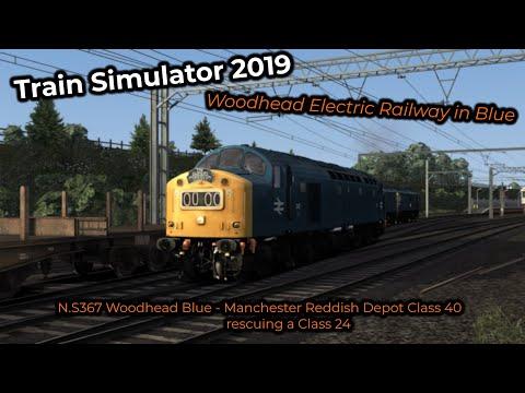 N.S367 Woodhead Blue - Manchester Reddish Depot Class 40 rescuing a Class 25 - Livestream 09/06/2019