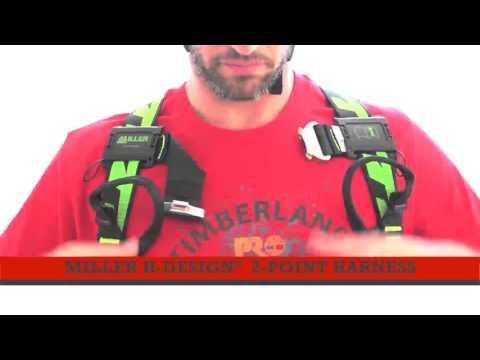 How to put on the Miller H-Design 2-point harness
