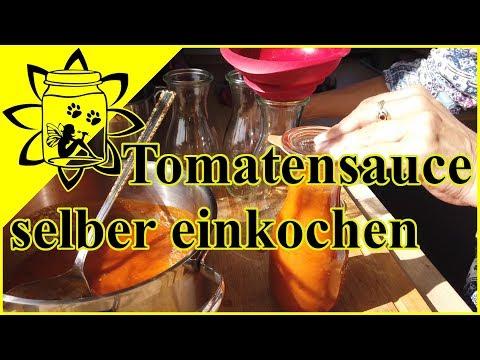 Rezept Tomatensauce selber einkochen | Tomaten haltbar machen | Tomaten einwecken Wintervorrat