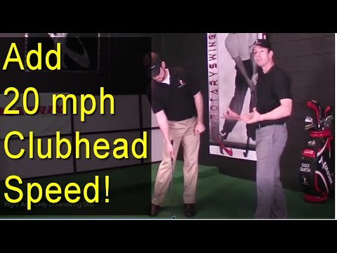 MORE GOLF SWING SPEED - Right Arm Only Downswing Drill