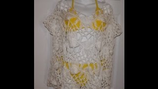 98be06352971e Hairpin lace summer blouse part 1 - with Ruby Stedman - YouTube