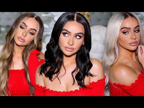 HOW TO FIT THICK, LONG HAIR UNDER A WIG! +TRY ON