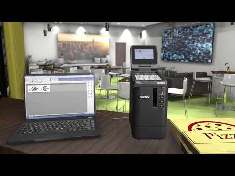 Tour de producto PT-P950NW. Rotuladora electrónica profesional con Red Cableada y WiFi.