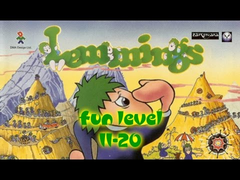 Lemmings (1991) - PC - Fun Level 11 to 20