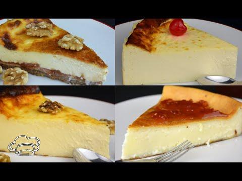 Como hacer la mejor tarta de queso al horno. 4 recetas de cheesecake