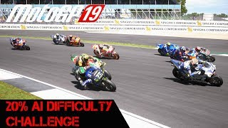 Trying To Win With A Ride Through - 20 Percent AI Challenge (Motogp 19)