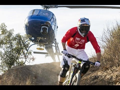 Helicopter chases Curtis Keene down incredible MTB trail - Heli POV - UCblfuW_4rakIf2h6aqANefA