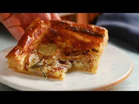 Your New Go-To Dinner: Cheese, Potato & Rosemary Puff Pastry Tart