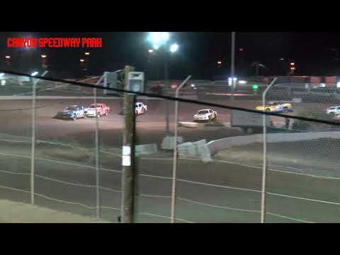 Canyon Speedway Park  IMCA Stock Car Main   April 10 2021 - dirt track racing video image