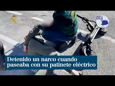 Detenido un narco cuando paseaba con su patinete eléctrico en Granada
