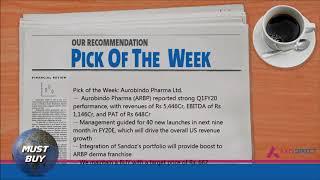 Stocks 'Pick of the Week'   Aurobindo Pharma Ltd. - 19th August, 2019 - AxisDirect