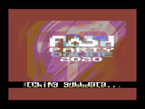 Flashparty 2020 Commodore 64 Invitation english