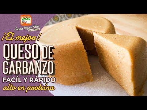 El mejor queso de garbanzo, súper fácil, y alto en proteína - Cocina Vegan Fácil