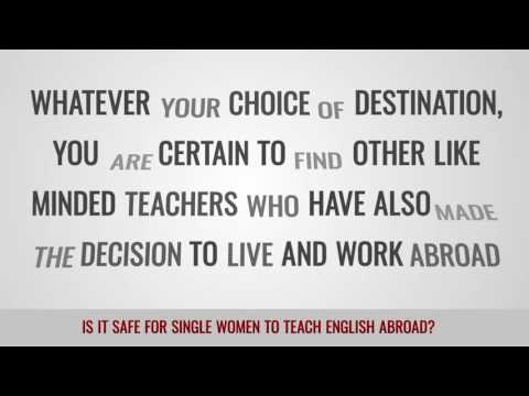 video on TEFL female teacher's safety abroad
