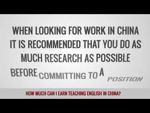 video about the avarage salary you can get TEFL teaching in China