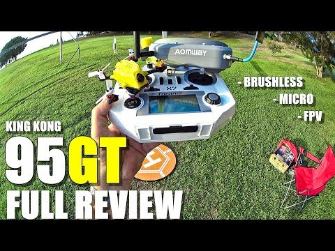 KINGKONG 95GT FPV Racing Drone - Full Review - Unboxing, Inspection, Flight/CRASH! Test, Pros & Cons - UCblfuW_4rakIf2h6aqANefA