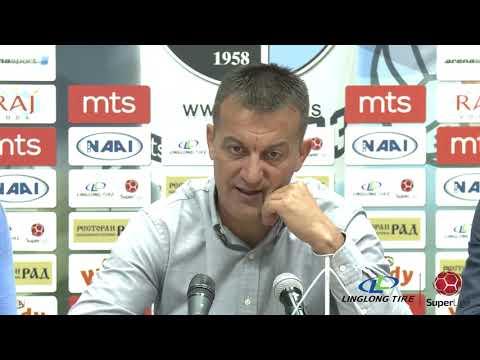 Linglong Tire Super liga 2019/20 - 9.Kolo: Izjave trenera nakon meča RAD – RADNIK